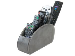 Remote Control Holder Grey Storage Caddy Desk Organiser 5 Compartments for TV, DVD, Blu-Ray Remotes - CEG10 Grey by Connected Essentials