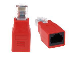 1pc Crossover Cable Adapter Convertor RJ45 Male To Female Connector RJ45 Ethernet Cable Extension Converter