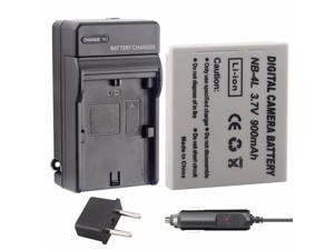 Package Includes 4-in-1 Memory Insten CB-2LV Equivalent External AC//DC Charger for Canon NB-4L Battery Used with PowerShot SD750//SD780//SD940//SD960//SD1000//SD1100 is and More Digital Cameras