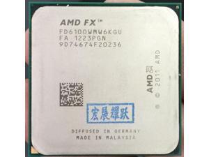 PC AMD FX-Series FX-6100 AMD FX 6100 Six Core AM3+ CPU Stronger than FX6100 FX 6100100% working properly Desktop Processor