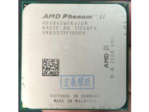 AMD Phenom II X4 840 - HDX840WFK42GM  Quad-Core AM3 938 CPU 100% working properly Desktop Processor