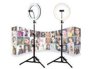 """26CM/10"""" LED Selfie Ring Light For Live Stream/Makeup/Video Dimmable Beauty Ringlight with Tripod Stand & Phone Holder For iPhone Android"""