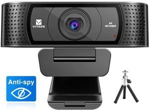 New - Webcam 1080P with Microphone & Cover, Vitade 928A USB HD Desktop Web Camera Video Cam for Streaming Gaming Conferencing Mac Windows PC Computer Laptop Xbox Skype OBS Twitch YouTube
