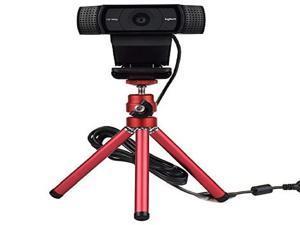 High Performance Webcam Tripod, Lightweight Mini Webcam Tripod for Logitech Webcam C920 C920S C922 C270 C615 Small Camera Tripod Mount Cell Phone Holder Stand