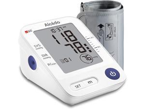 Blood Pressure Monitor Upper Arm by Alcedo | Automatic Digital BP Machine with Wide-Range Cuff for Home Use | Large Screen, 1x74 Reading Memory | FDA Approved