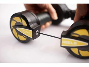 POWER REELS Best Portable Fitness Product , Most Effective Resistance Exercise Product. Home Gym Workout : Abs, Core, Arms, Legs, Chest, Back, Shoulders.
