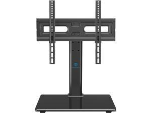 Universal TV Stand Table Top TV Base for 32 to 55 inch LCD LED OLED 4K Plasma Flat Screen TVs - Height Adjustable TV Mount Stand with Tempered Glass Base, VESA 400x400mm, Holds up to 88lbs