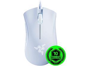 Gaming Mouse,New Razer DeathAdder Essential Gaming Mouse: 6400 DPI Optical Sensor - 5 Programmable Buttons - Mechanical Switches - Rubber Side Grips - White