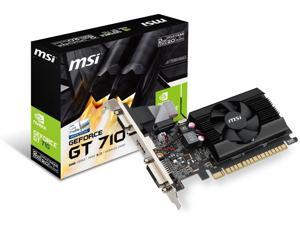 Desktop Graphics Cards, New MSI Gaming GeForce GT 710 2GB GDRR3 64-bit HDCP Support DirectX 12 OpenGL 4.5 Single Fan Low Profile Graphics Card (GT 710 2GD3 LP)