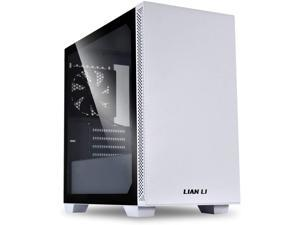 Lian Li microATX Mid-Tower Computer Case PC Gaming Case Chassis w/Tempered Glass Side Panel, Magnetic Dust Filter, Water-Cooling Ready, Side Ventilation and 2x120mm PWM Fan Pre-Installed (205M, White)