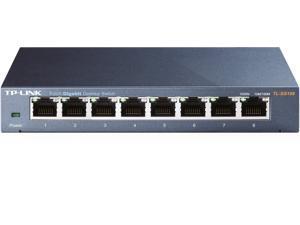 Ethernet Hub, TP-Link 8 Port Gigabit Ethernet Network Switch | Ethernet Splitter | Sturdy Metal w/ Shielded Ports | Plug-and-Play | Traffic Optimization | 8 x 10/100/1000 Mbps Gigabit auto-negotiation