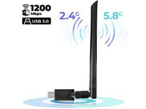 TeemorShop 1200Mbps WiFi Adapter for PC 2.4G//5G USB 3.0 Dual Band Wireless Adapter