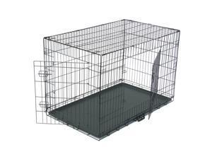 "48"" Dog Crate ,Double Door Folding Metal Dog Crates"