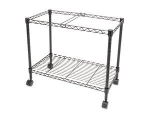 "Single Tier Metal Rolling Mobile File Cart 23.6 x 12.6 x 18"" Office Supplies"