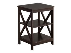 Hot Modern Style Night Stand End Side Bedside Table Organizer Wood Coffee NEW