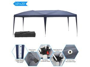 10x20' Easy Pop up Canopy Gazebo Pavilion Wedding Party Tent with Carry Bag Blue
