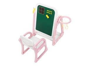 High Quality Plastic Children's Table and Chair Drawing Board Set with Shooting