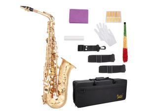 Student  Glarry Alto Saxophone  Alto SAX Eb  with  W/ Case 10 Reeds Strap