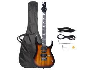 New Glarry 170 Type Electric Guitar Bag Shoulder Strap Pick Whammy Bar Sunset
