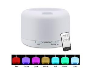 Magace RGB Aroma Diffuser with Controller, US Plug 110V 500ML 7 Color LED Lights Aromatherapy Diffuser for Home Office Bedroom Yoga Sp