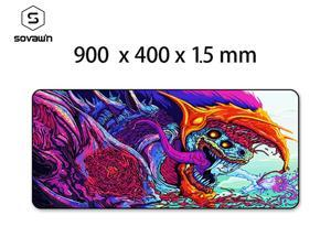 Gaming Mouse Pad XL Large 900*400cm thickness 1.5mm Locking edge Rubber Mousepad Gamer CS Go Hyper Beast Mouse Mat Wrist Rest for Computer Laptop Mat 1