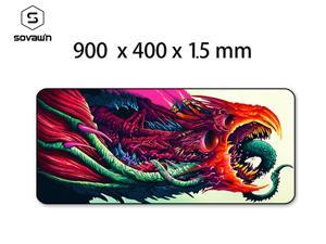 Gaming Mouse Pad XL Large 900*400 Locking edge Rubber Mousepad Gamer CS Go Hyper Beast Mouse Mat Wrist Rest for Computer Laptop  Mat 3 Thickness 1.5mm