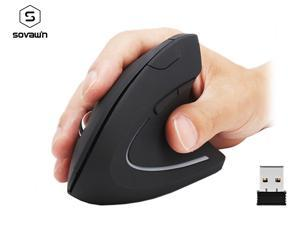 Sovawin Wireless Mouse 800 1200 1600 DPI Optical Mice Vertical Ergonomic Wrist Healing Mouse For Desktop Computer PC Game Mice