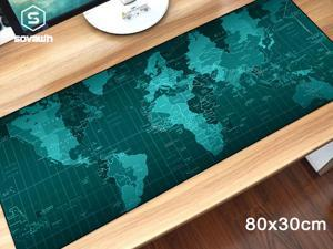 SOVAWIN World Map Gaming Mouse Pad XXL 80x30cm Extra Large Rubber Mouse Mat Anti-slip Keyboard Pad Extended mouse pad for Laptop Notebook Lol for Computer