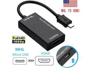 MHL Micro USB 2.0 to HDMI Adapter Cable for Android Phone Smartphone Tablet TV