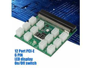 6PIN 1200W Server Power Supply Breakout Board for  DPS-1200QB A PSU GPU Mining