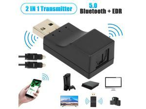 USB Bluetooth 5.0 Transmitter Digital Optical Stereo Audio Adapter For TV PC Car