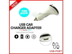 100 USB Car Charger Fast Adapter for iPhone 12 / 12 Mini / 12 Pro /12 Pro Max/SE