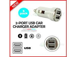 5X USB Car Charger Fast 2-Port Adapter for  Galaxy S21 / S21+ / S21 Ultra