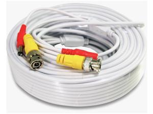 100ft CCTV Security Camera Cable CCTV Video Power Wire BNC RCA Cord DVR Lot WT