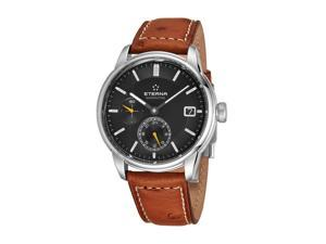 Eterna 7661.41.56.1352 Adventic GMT Anthracite Dial Brown Leather Men's Automatic Watch