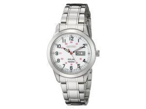 Seiko SUT167 Solar Silver Stainless Steel White Dial Women's Quartz Watch