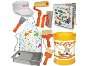 Li'l-Gen Painter Set – Painter's Costume and Imagination Art Supplies Play Set With Storybook Included