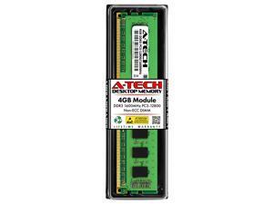 A-Tech 4GB DDR3 1600MHz DIMM PC3-12800 UDIMM Non-ECC CL11 240-Pin Desktop Computer RAM Memory Upgrade Module