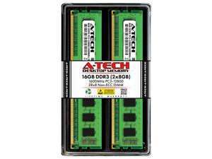 A-Tech 16GB (2x8GB) DDR3 1600MHz DIMM PC3-12800 UDIMM Non-ECC 2Rx8 Dual Rank 1.5V CL11 240-Pin Desktop Computer RAM Memory Upgrade Kit