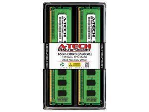 A-Tech 16GB (2x8GB) DDR3 1333MHz DIMM PC3-10600 2Rx8 Dual Rank 1.5V CL9 240-Pin Non-ECC UDIMM Desktop RAM Memory Upgrade Kit