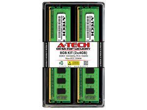 A-Tech 8GB (2x4GB) DDR3 1333MHz DIMM PC3-10600 UDIMM Non-ECC CL9 240-Pin Desktop Computer RAM Memory Upgrade Kit
