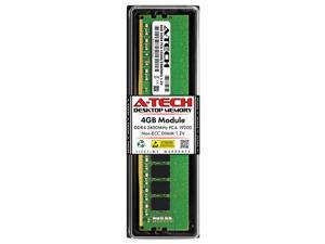A-Tech 4GB DDR4 2400MHz DIMM PC4-19200 UDIMM Non-ECC Unbuffered 1.2V CL17 288-Pin Desktop Computer RAM Memory Upgrade Module