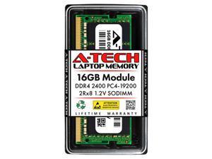 A-Tech 16GB DDR4 2400MHz SODIMM PC4-19200 2Rx8 Non-ECC Unbuffered CL17 1.2V Dual Rank 260-Pin SO-DIMM Laptop Notebook Computer RAM Memory Upgrade Module