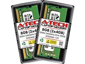 A-Tech 8GB (2x4GB) DDR4 2400MHz SODIMM PC4-19200 Non-ECC CL17 1.2V 260-Pin SO-DIMM Laptop Notebook Computer RAM Memory Upgrade Kit