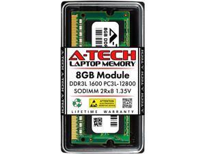 A-Tech 8GB DDR3 / DDR3L 1600MHz SODIMM PC3-12800 2Rx8 1.35V CL11 Non-ECC Unbuffered 204-Pin SO-DIMM Notebook Laptop RAM Memory Upgrade Module