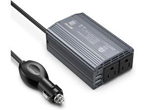 BESTEK 300W Power Inverter DC 12V to 110V AC Car Inverter with 4.2A Dual USB Car Adapter (Blue)
