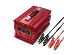 BESTEK 2000W Power Inverter 3 AC Outlets DC 12V to 110V AC Car Inverter Outdoor Camping Emergency Power Supply ETL Listed