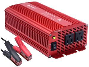 BESTEK 1000W Power Inverter for Car Dual AC Outlets 12V DC to 110V AC Car Power Inverter