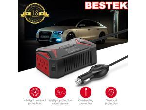 BESTEK 300W Pure Sine Wave Power Inverter for Car DC 12V to AC 110V Car Power Inverter with 4.2A Dual Smart USB Ports Car Adapter
