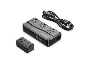 BESTEK Power Converter Adapter 220V to 110V Voltage Converter with 6A 4-Port USB Charging and UK/EU/AU/US Universal Travel Adapter